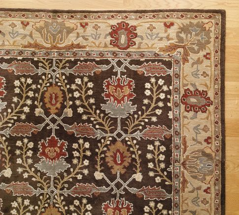 New pottery barn brandon persian style handmade woolen rugs  carpets also rug and in