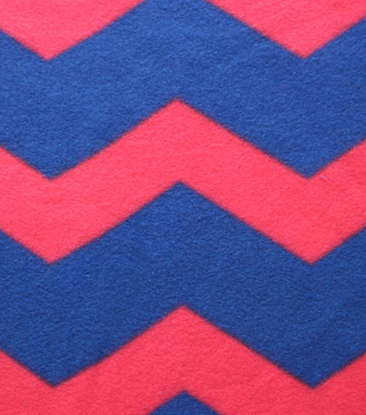 Blizzard fleece fabric navy red chevron products pinterest