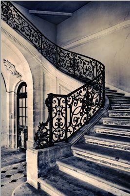 Classic French Stair. Classic French Stair Wrought Iron ...