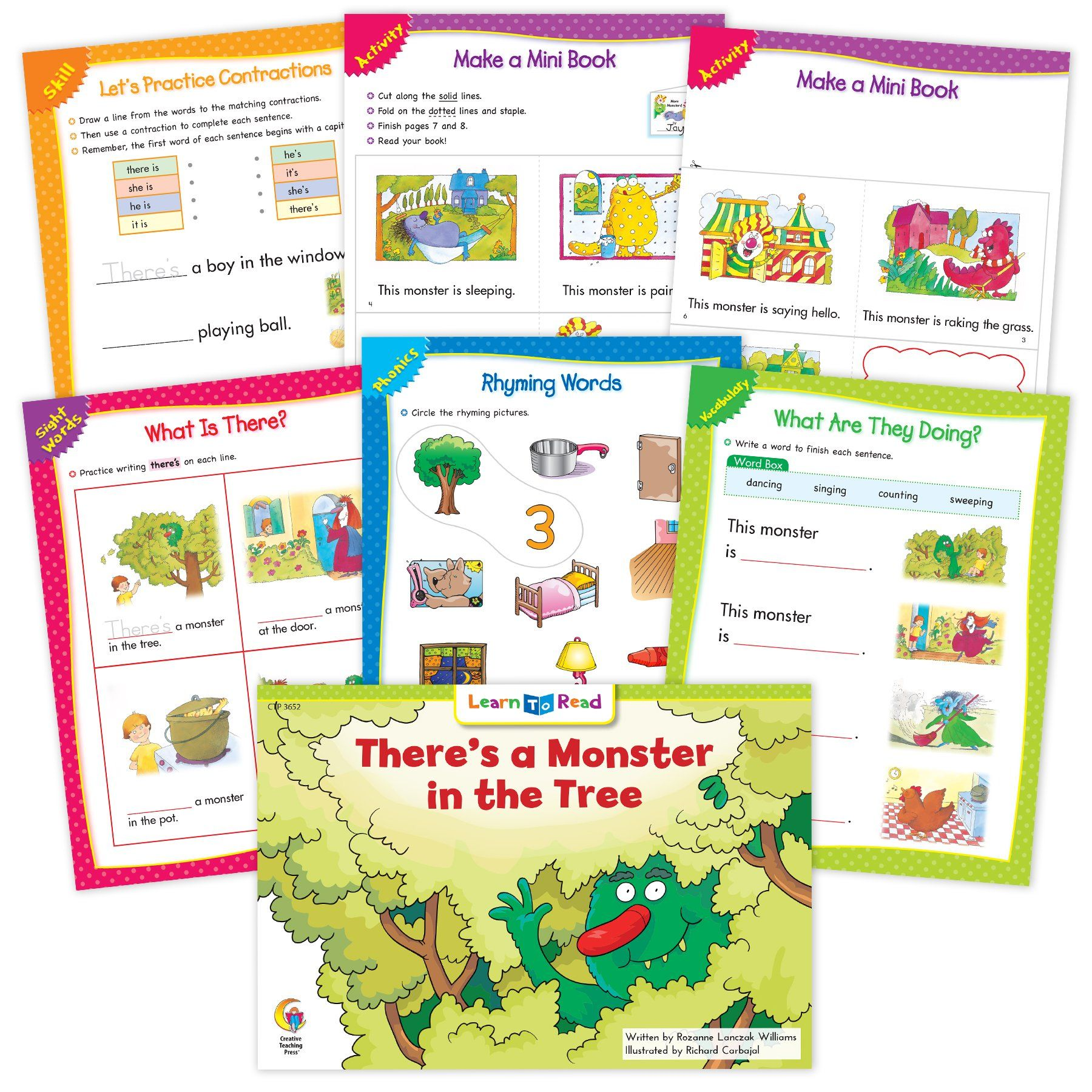 There S A Monster In The Tree Ebook Amp Worksheets In