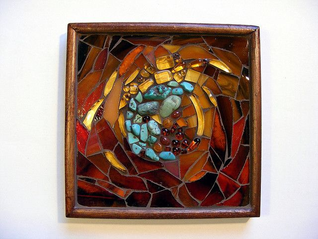 Mosaic box with turquoise by stiglice - Judit, via Flickr