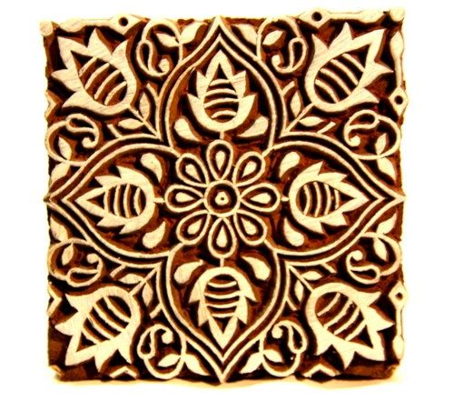 Wood Block For Printing Block Printing Designs Hand Painted