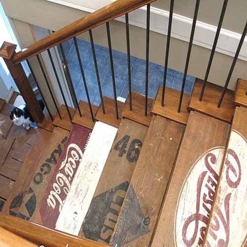 Painted Basement Stairs Ideas: Thistle And Poppy Innovative Picture Frames
