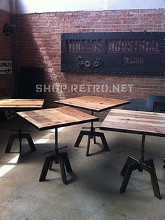 What S Going On At Vintage Industrial Cafe Furniture Industrial Cafe Vintage Industrial Decor