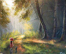 Grafika - Lesní svetlo/Grafický list - 8191542_