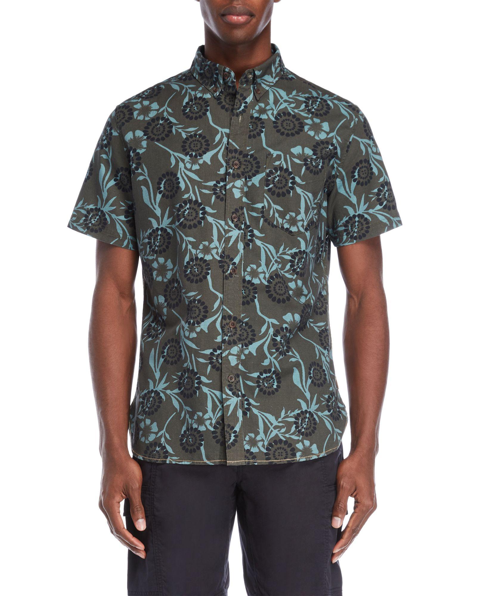 Surfside Supply Flower Batik Short Sleeve Shirt | *Apparel
