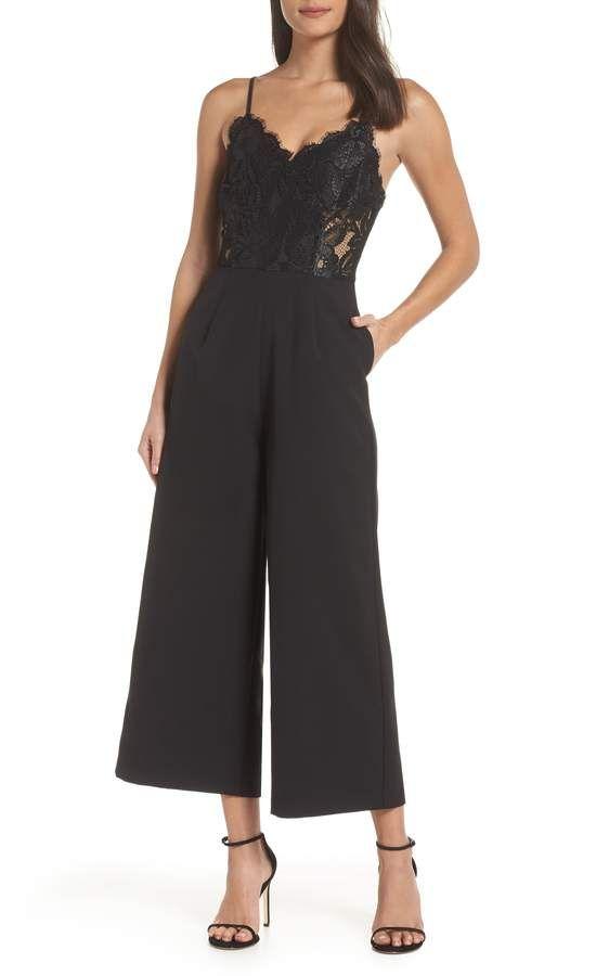 80f3278a3603 NSR Josephine Wide Leg Crop Lace Jumpsuit