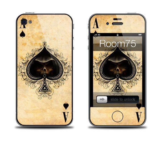 Ace of Spades Poker Iphone 4/4s/5 Galaxy S3 Skin from by Room75, $8.99