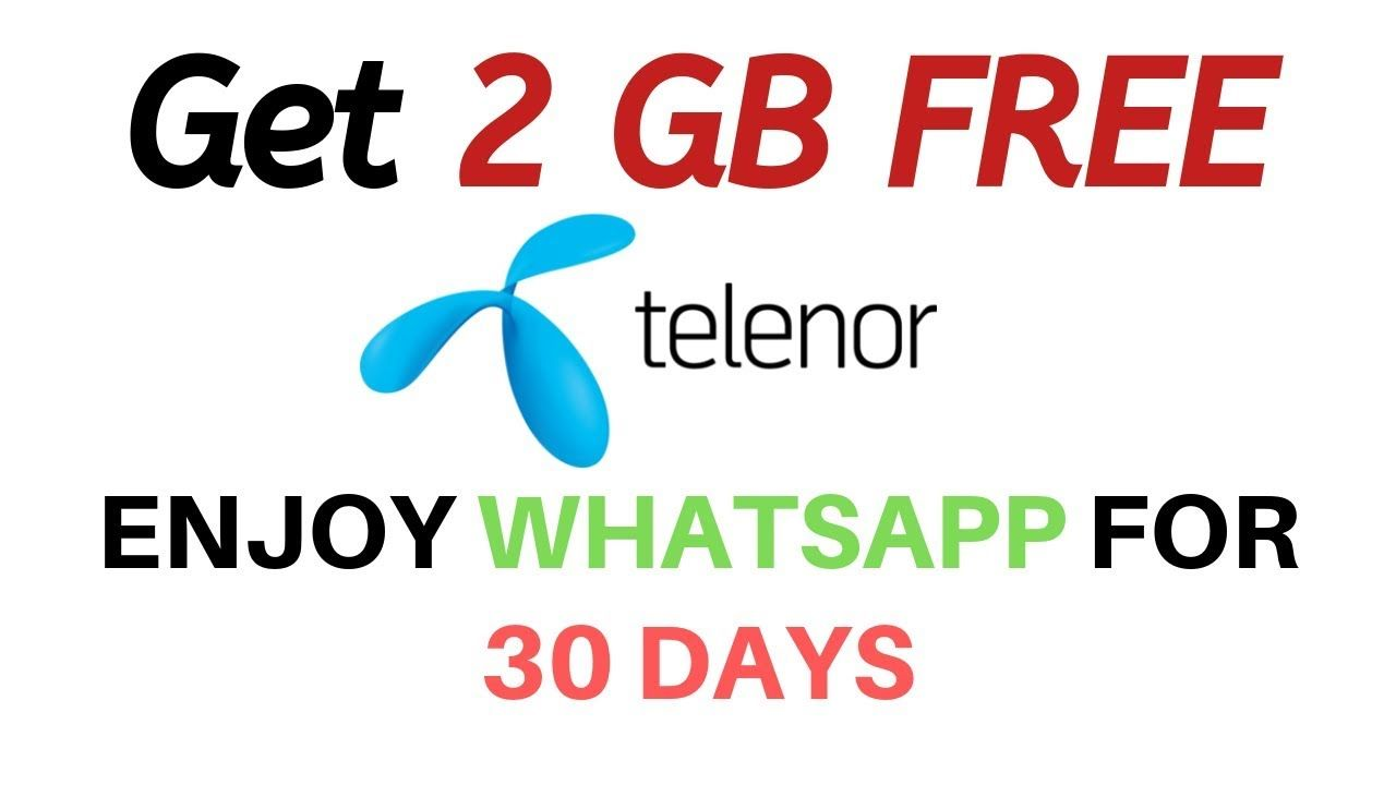 2 Gb Free Telenor Sim Whatsapp Package Code 2019 Monthly Whatsapp Offer Coding Offer Packaging