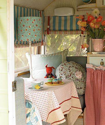 Cottage Hill: My Vintage Camper.  *Tablecloth