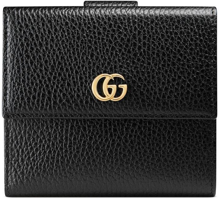 Gucci Leather french flap wallet #leatherwallets