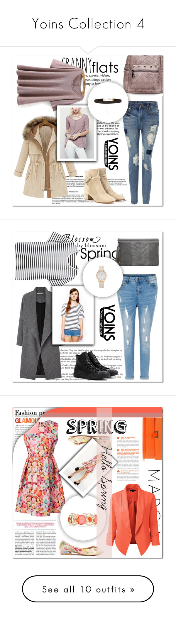 """""""Yoins Collection 4"""" by mini-kitty ❤ liked on Polyvore featuring Pussycat, Gianvito Rossi, yoins, Miss Selfridge, Converse, LE3NO, New Directions, Mansur Gavriel, Mulberry and BaubleBar"""