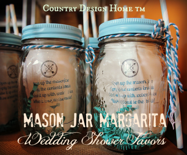 mason jar margarita bridal shower favors on country design home