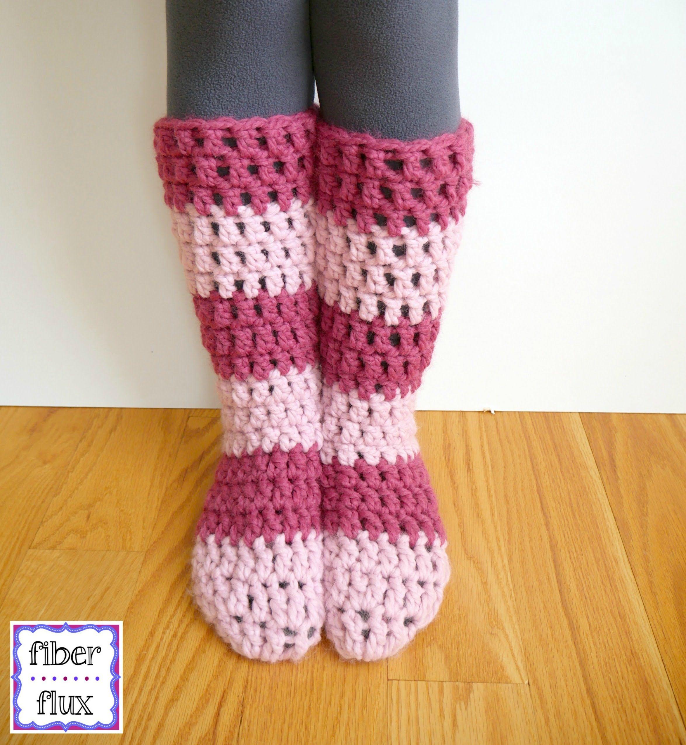How to crochet the Strawberry Blossom Slipper Socks, Episode 301 ...