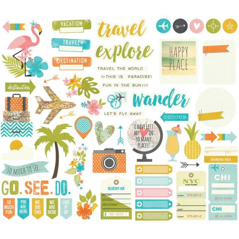 Die Cuts - Bits & Pieces - You Are Here!