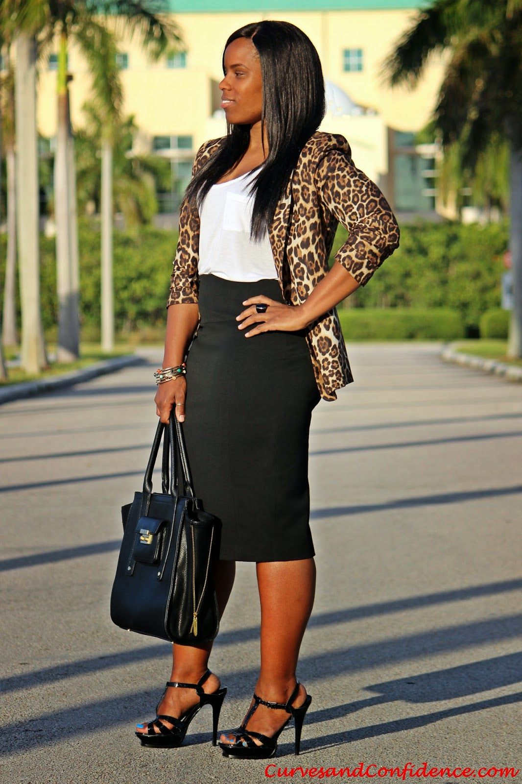 Black Amp Leopard Curves Confidence Fashion Casual Work