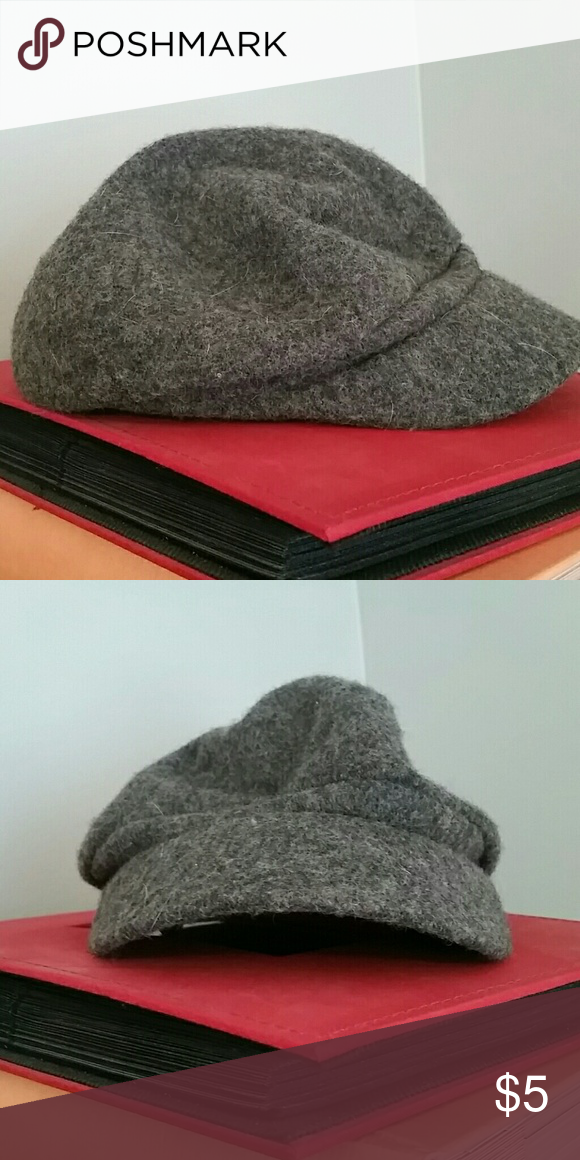 Wool pageboy hat Gray wool hat.  Page boy style. Other