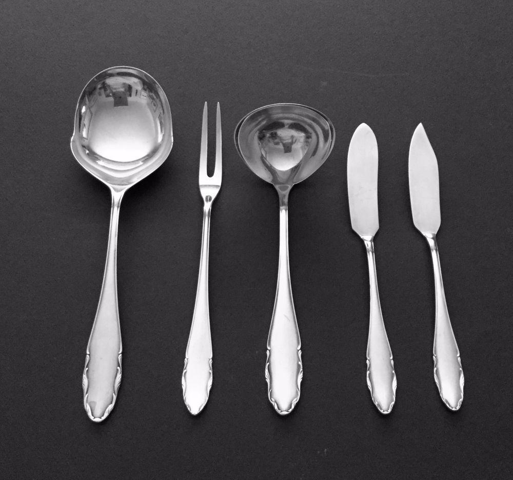 Wmf 2200 german 90 silverplate flatware 5 serving pieces excellent wmf flatware and - Wmf silverware ...