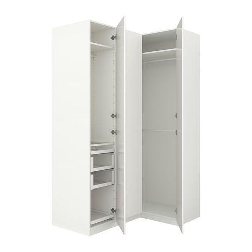 IKEA PAX white Corner wardrobe Frame colour white