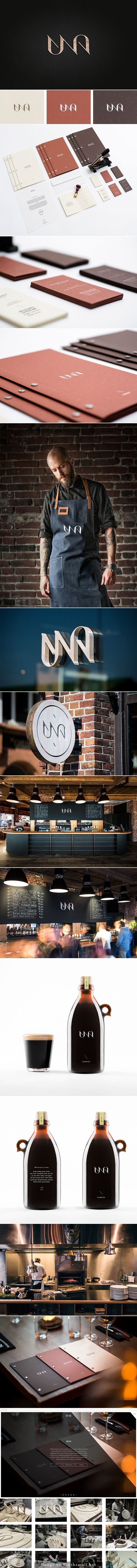 Una Kitchen & Microbrewery, CI/Branding --... - a grouped images picture - Pin Them All