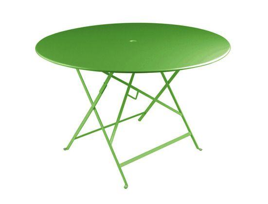 Table Bistro ronde 117 cm, table de jardin, table ronde ...