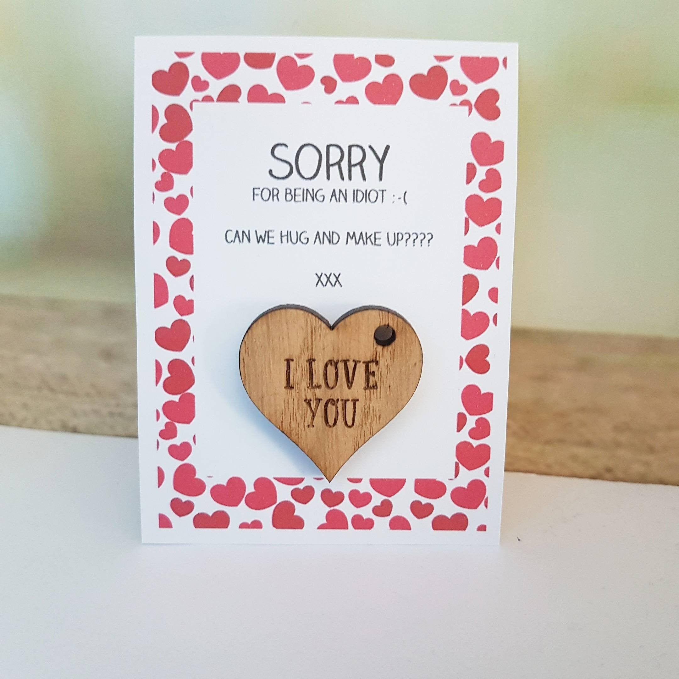 Sorry Gift Boyfriend Sorry Card I Am Sorry Apology Gift Hug