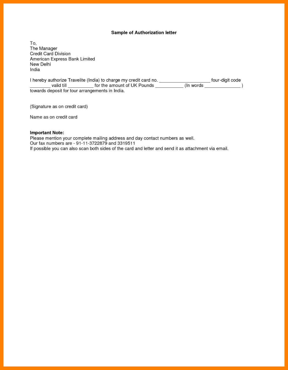 Sample Of Authorization Letter Lettering Words Best Templates