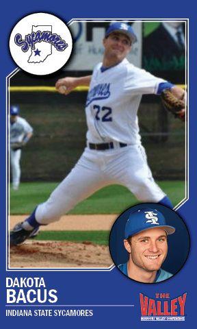 Dakota Bacus Indiana State Mvc Player Of The Week Honoree Indiana State Indiana Baseball Cards
