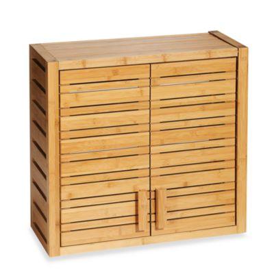 Bamboo Wall Cabinet Bamboo Bathroom Bathroom Shelf Decor Diy Bathroom Remodel