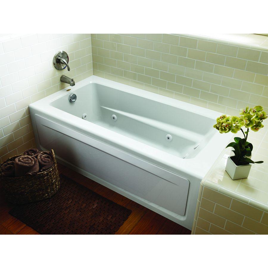 Shop Jacuzzi Primo White Acrylic Rectangular Whirlpool Tub (Common ...