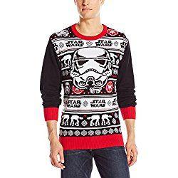 Ugly Christmas Sweater Star Wars  Storm trooper Mens Black