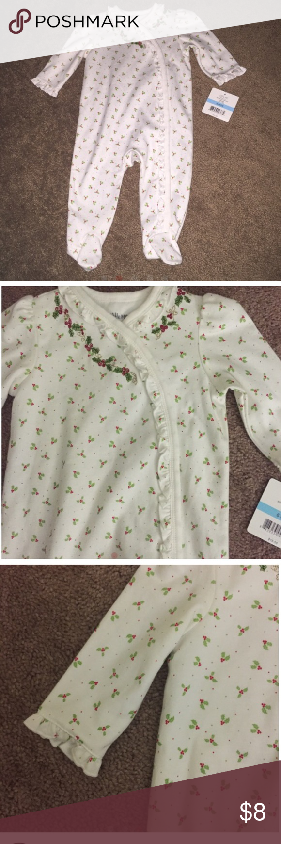 NWT footed holiday sleeper New with tags ! Size 6 months. Happy to discount if bundled 😀 Little Me Pajamas