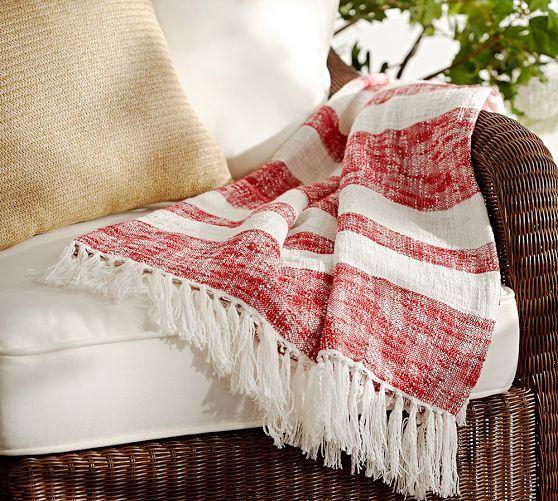 Awning Stripe Throw Striped Throw Throw Blanket Home Decor Sale