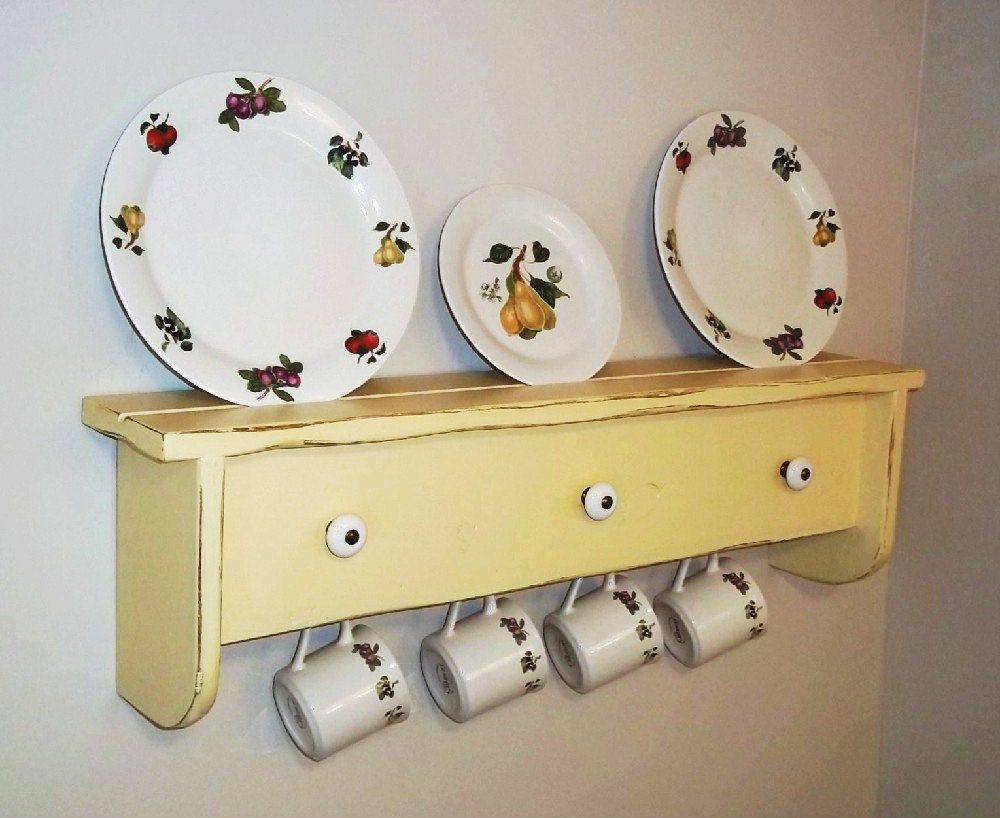 Shabby Wall Shelf Furniture Plate Holder by daleswoodandmore, $58.00 ...