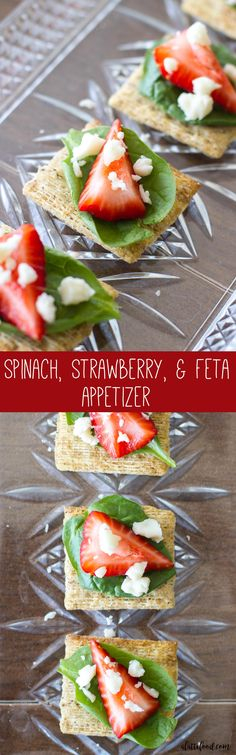 If you're having a summer party, these appetizers will be a hit! This Spinach, Strawberry, and Feta Appetizer is an easy recipe with delicious ingredients.