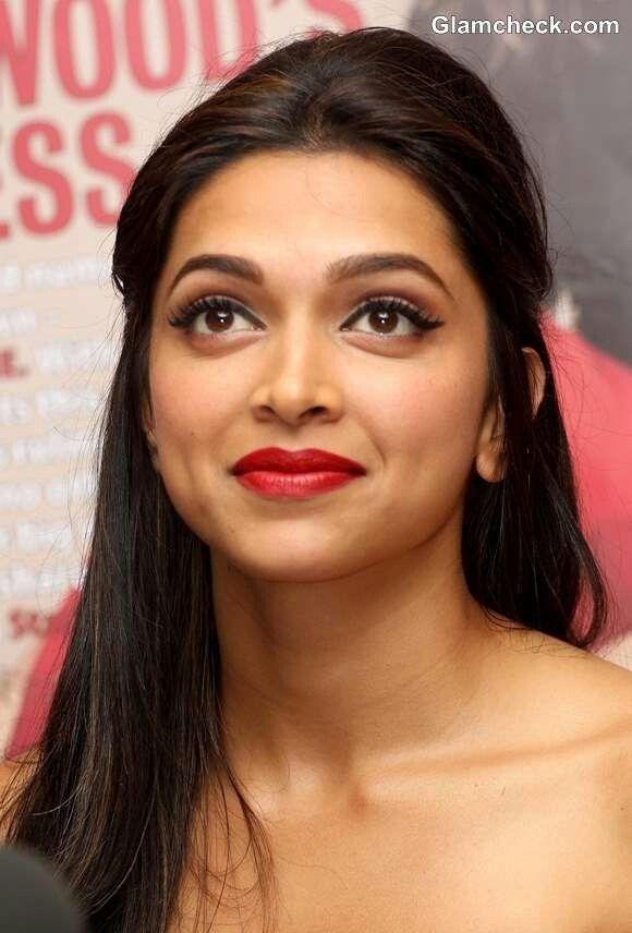 Deepika Padukone Makeup, wearing Red Lipstick. Click To ...