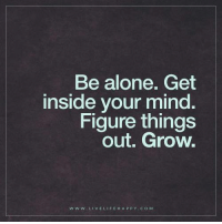 Be Alone Get Inside Your Mind Figure Things Out Grow W W W LIVE LIFE HA P P Y COM Deep Life Quotes Be Alone Get Inside Your Mind Figure Things Out Grow   Being Alone Meme on ME.ME