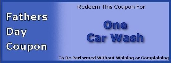 Free Printable Car Wash Tickets 50 Diy Fathers Day Gift Ideas Coupons Father And