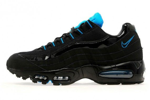 Nike Air Max 95 Black Patent Leather Photo Blue