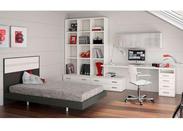 Dormitorio juvenil habitaci n infantil de dise o super for Camas infantiles diseno moderno