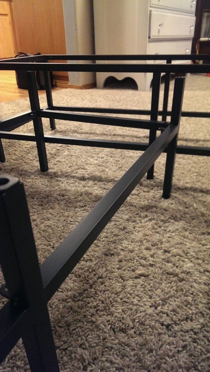 Wood + VITTSJO Industrial Media Console Ikea hackers