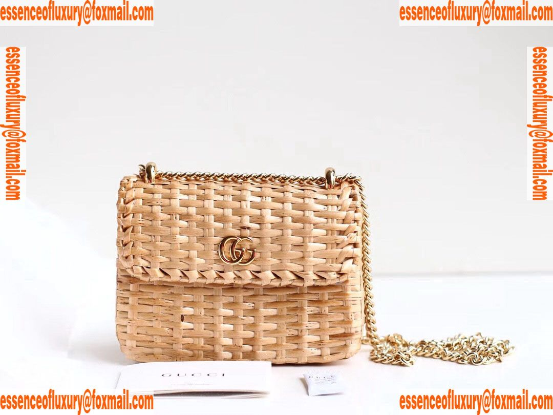 0874288db4b57d Gucci Wicker Mini Shoulder Bag Gucci Luxury Bags 524829 16x11x6CM A156PP630  AA67564