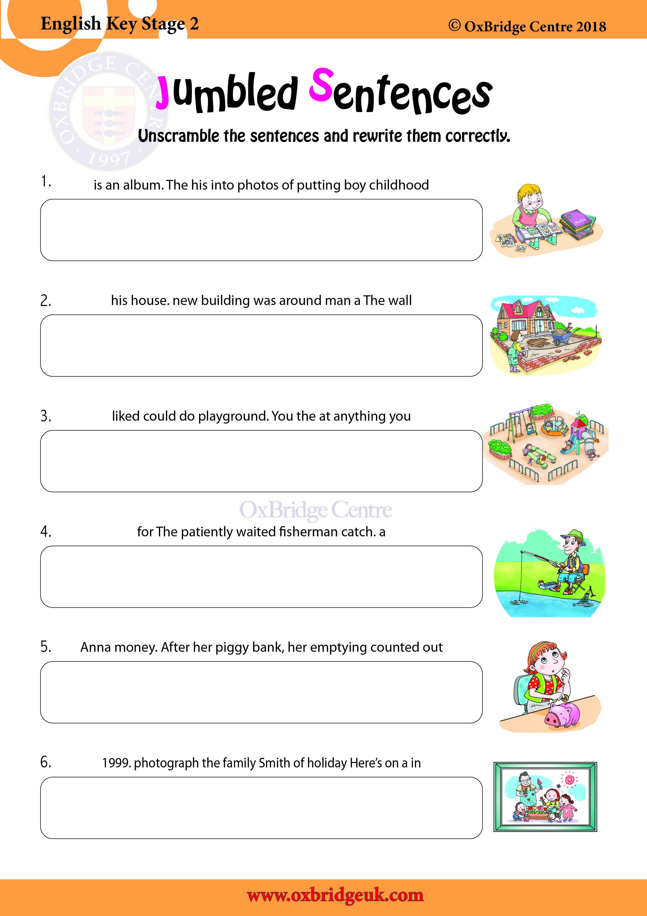 Jumbled Sentences in 2020 Literacy worksheets, Sentence