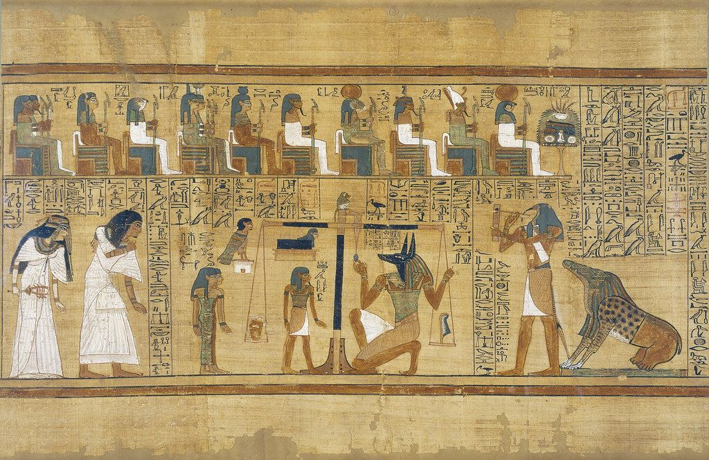 Book Of The Dead Detail Weighing Of The Heart Ritual Egypte