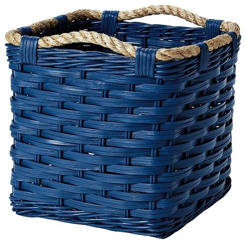 Superb Rope Bin Collection, Cobalt Traditional Baskets Ideas