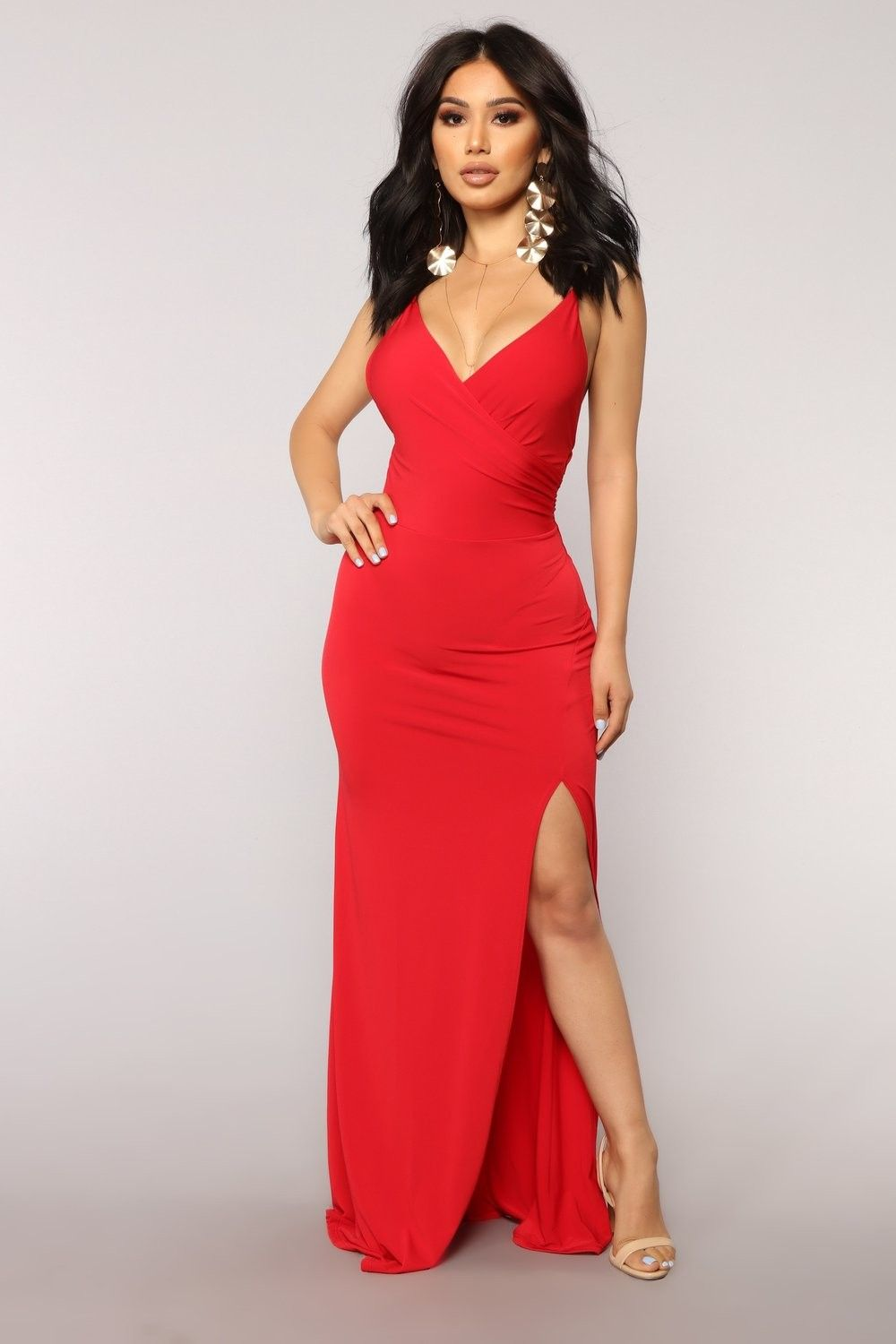 Red Dress Fashion Nova | Red dress maxi