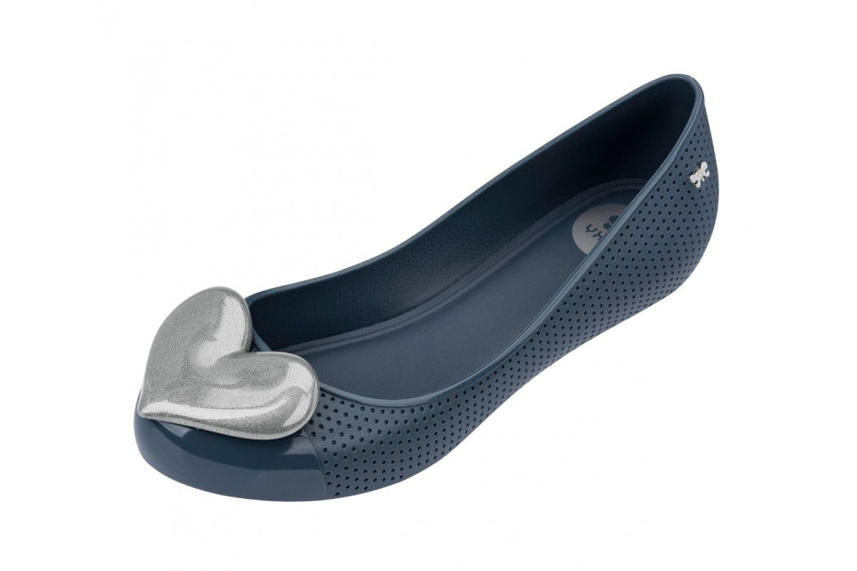 557007f0a Zaxy Pop Beauty Navy Contrast Heart Flat Ballet Shoes | Lindos ...