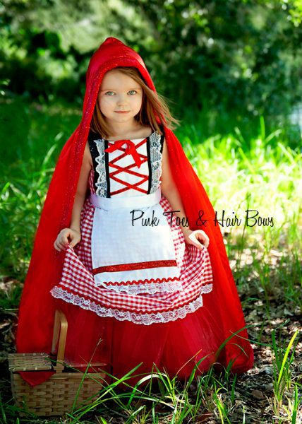 Little Red Riding Hood Tutu Dress Little Red Riding Hood Etsy Disfraz Caperucita Roja Disfraces Tul Disfraces Niños