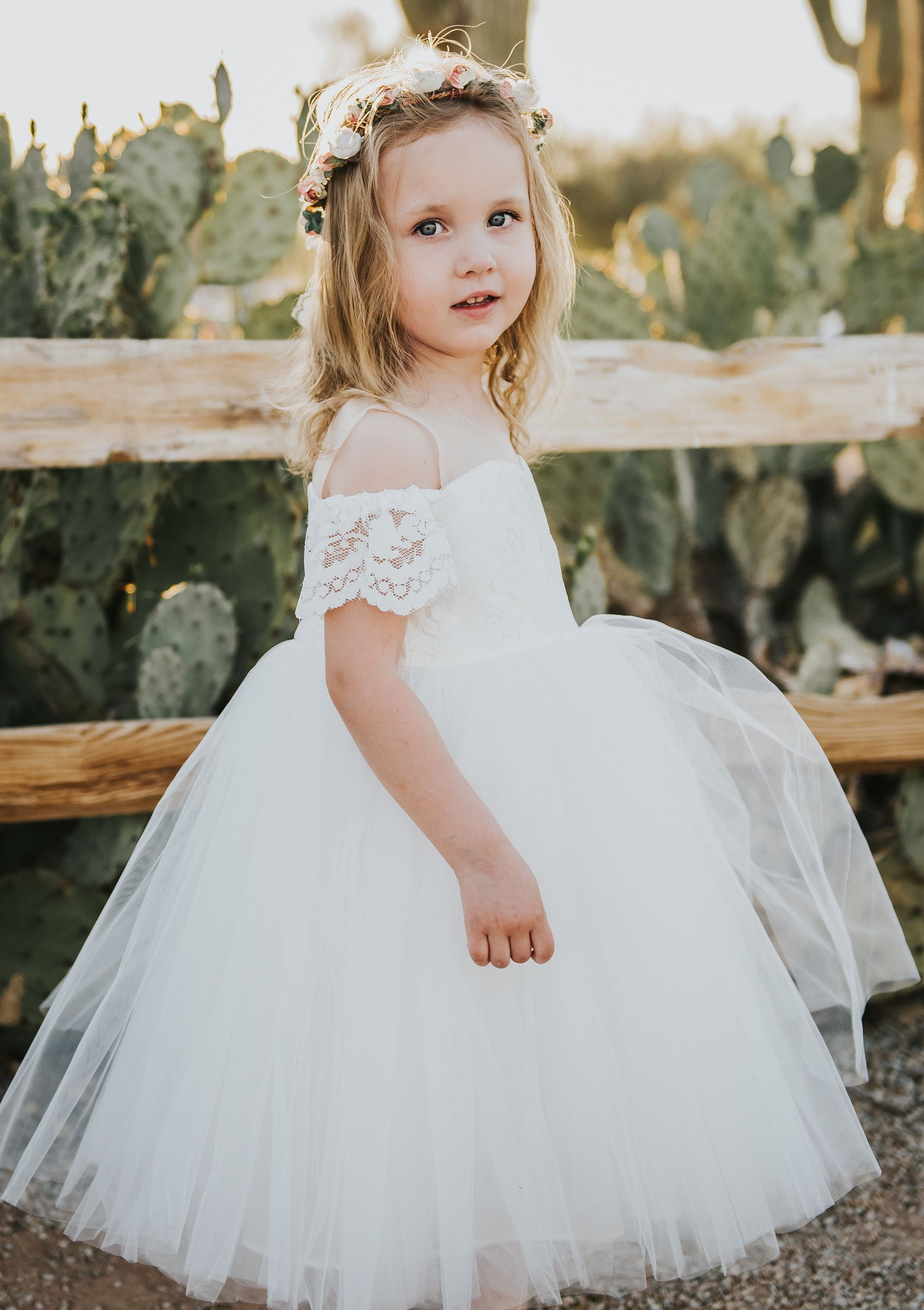 abe695bb1bb Stunning lace ruffles sleeves flower girl dress