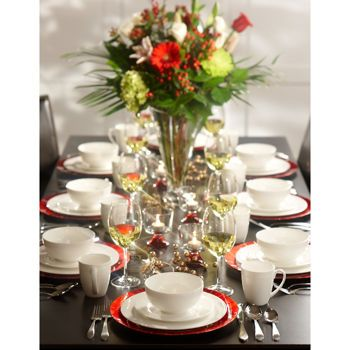 Costco: Roscher 32-pc. Hobnail Bone China Dinnerware Set | living ...